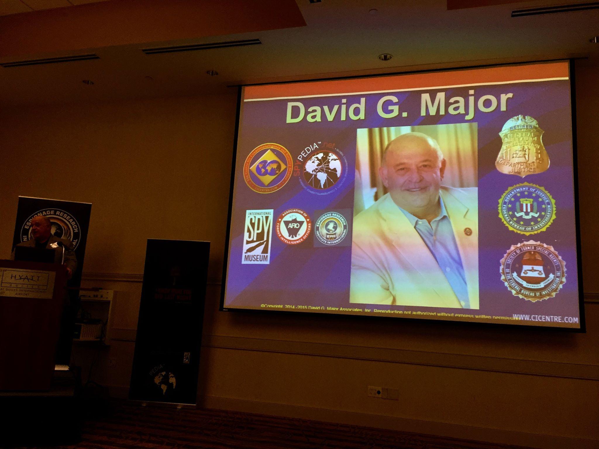2015 ERII Conference David G. Major